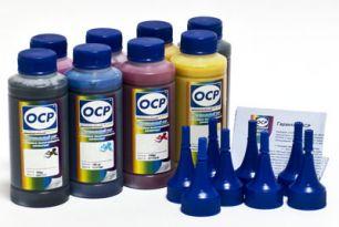 Комплект чернил ОСР (EGO, BKP110/111, CP110, YP116, RP110, MP110, VP110) для картриджей EPS R800/R1800, 100 gr x 8