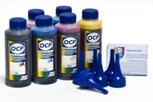 Чернила OCP для принтера Epson XP-600, XP-605, XP-610, XP-700, XP-800, XP-810 (BKP 115, BK 140, C 140 - светостойкий, M 140, Y 140), картриджи T2601, T2611-T2614, комплект 100 гр. x 5
