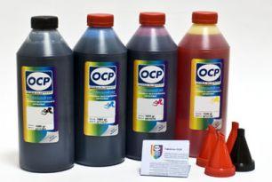 Чернила OCP для принтера и МФУ Canon MG2240, MG3240, MG3540, MG4240 (BK35, C710, M710, Y710) Safe Set, комплект 1000 гр. x 4