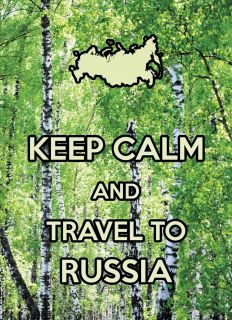 Postcard KEEP CALM and travel to Russia