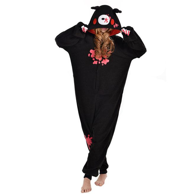 Пижама Кигуруми Мрачный Медведь Черный Премиум