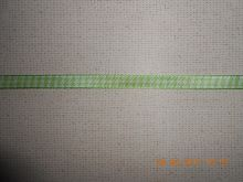 лента декоративная ГАММА  бело-зелёная клетка ширина 10 мм материал полиэстер цена на за метр