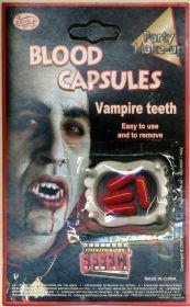 Вампирские зубы+3 капсулы с кровью