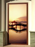 Виниловая наклейка на дверь - Мосты