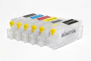 Перезаправляемые картриджи Bursten Nano-2 для Canon MP980, MP990 (PGI-520, CLI-521) x6 с авто-чипом