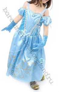 Платье костюм Золушки голубое размер 120