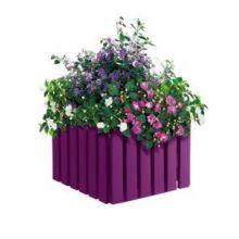 Кашпо Emsa Landhaus квадратное фиолетовое