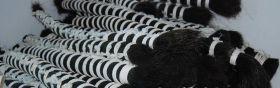 Волос буйвола черный жесткий в хвосте