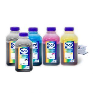 Чернила OCP для принтера Epson XP-600, XP-605, XP-610, XP-700, XP-800, XP-810 (BKP 115, BK 140, C 140 - светостойкий, M 140, Y 140), картриджи T2601, T2611-T2614, комплект 500 гр. x 5