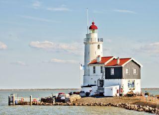 Postcard Lighthouse Marken. Netherlands