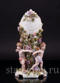 Ваза три ангелочка, салфетница, Von Schierholz, Германия, сер 20 в., артикул 02509