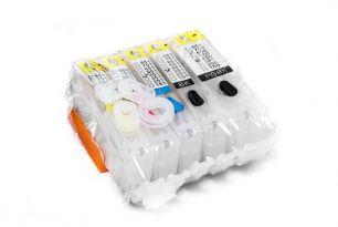 Комплект перезаправляемых картриджей для CAN iP7240 с чипами (белая упаковка)