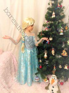 Платье новогоднее на рост 120-125 см с париком