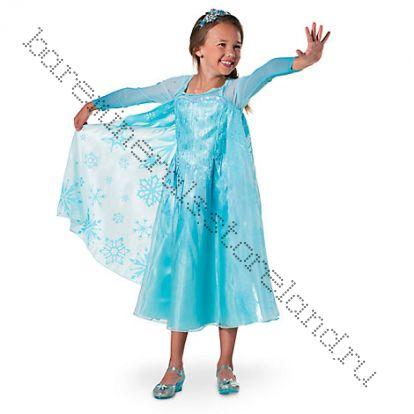 Костюм Эльзы Люкс - Elsa Frozen рост 116 см ( 5-6 лет)