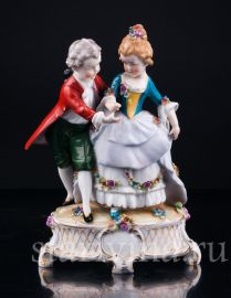 Маленькие влюбленные, E & A Muller, Германия, нач.20 в., артикул 02952