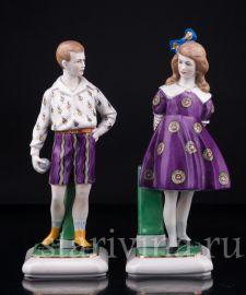 Мальчик и девочка, Goebel, Германия, 1920-30 гг., артикул 02972
