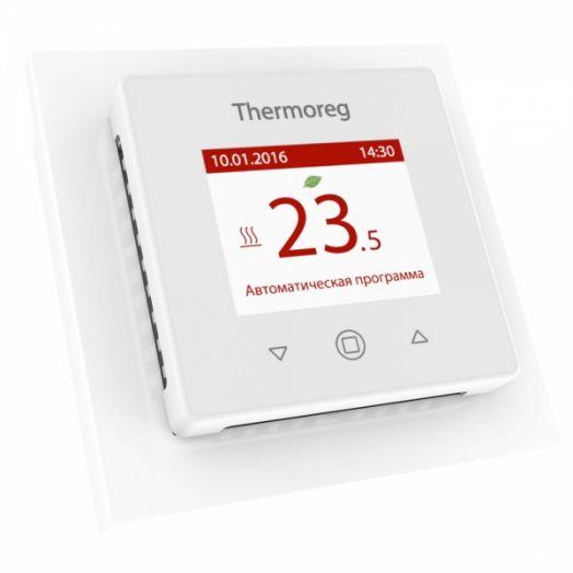 Электронный терморегулятор Thermoreg TI-970 White цветной программируемый для теплого пола