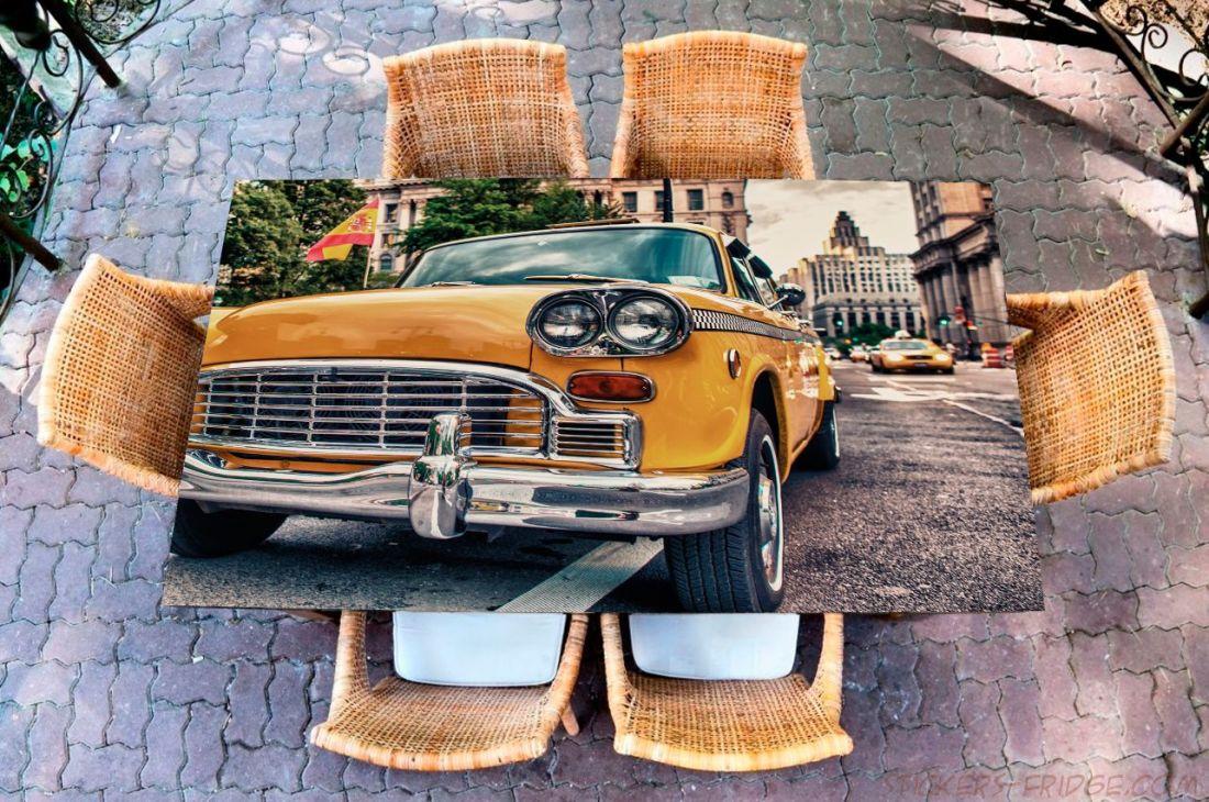 Наклейка на стол - Такси